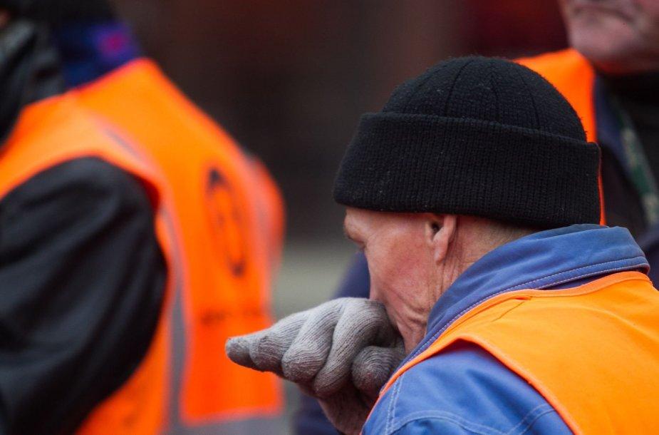 Prie Seimo vyko komunalinio ūkio darbuotojų piketas
