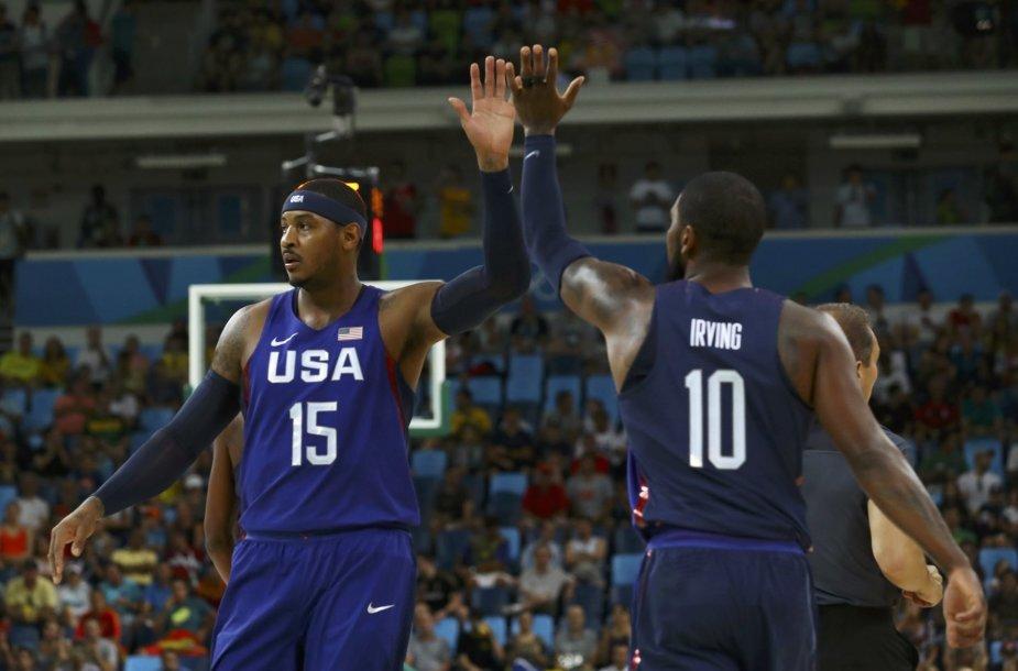Carmelo Anthony ir Kevinas Durantas