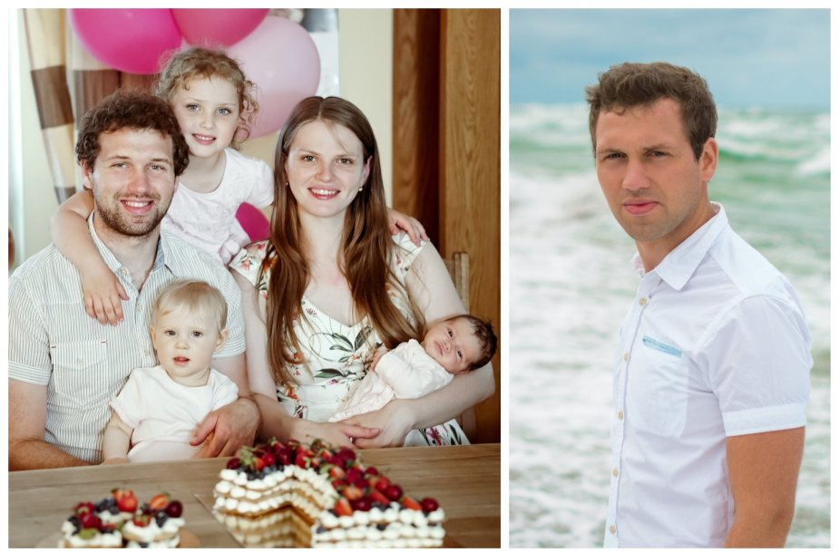 Martynas Beinaris su šeima
