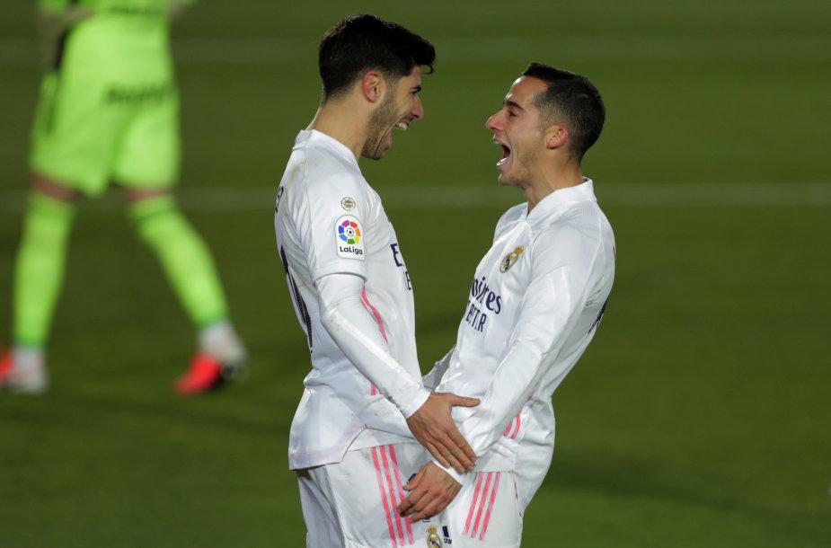 Marco Asensio ir Lucasas Vazquezas