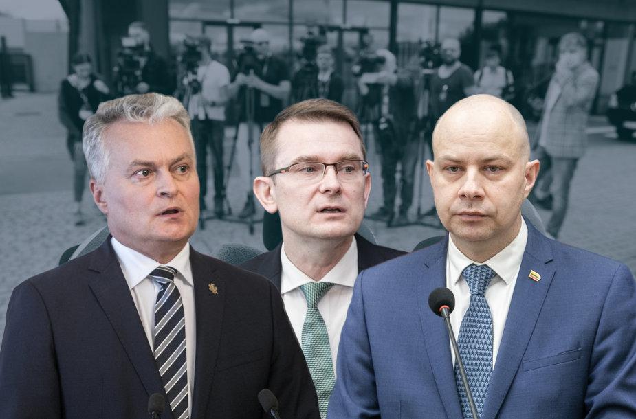 Gitanas Nausėda, Arūnas Dulkys ir Aurelijus Veryga
