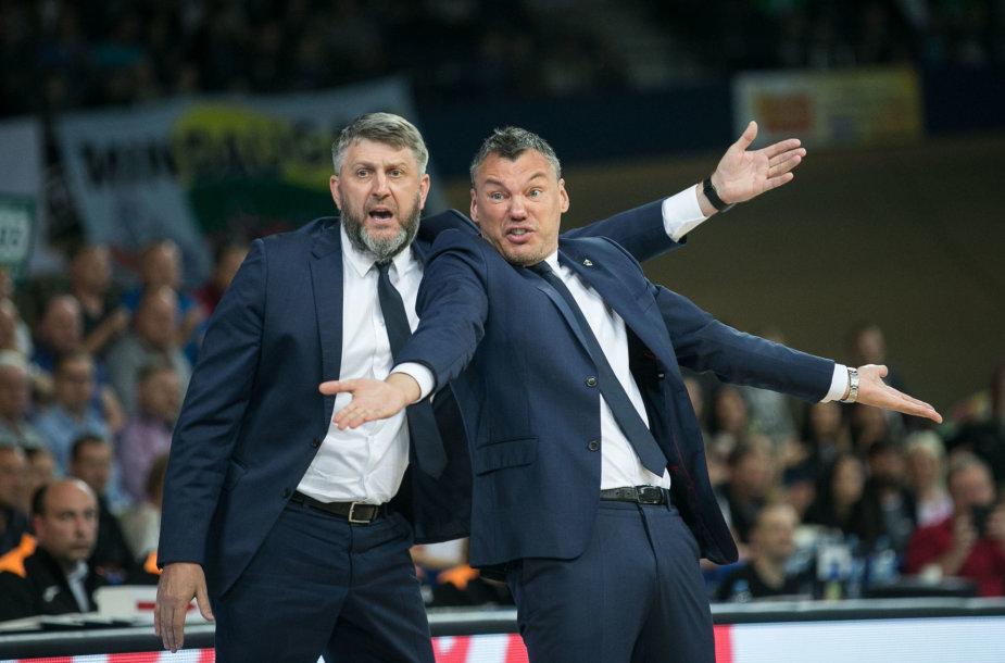 Darius Maskoliūnas ir Šarūnas Jasikevičius