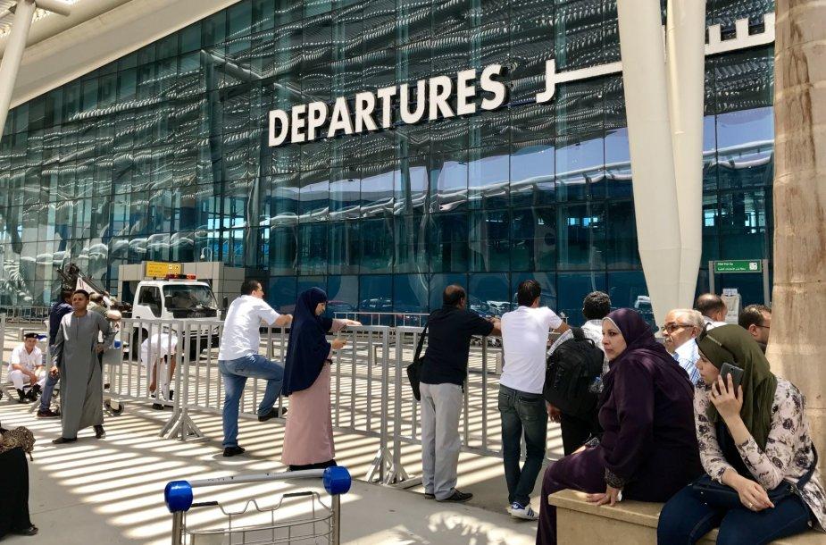 Keleiviai Kairo oro uoste