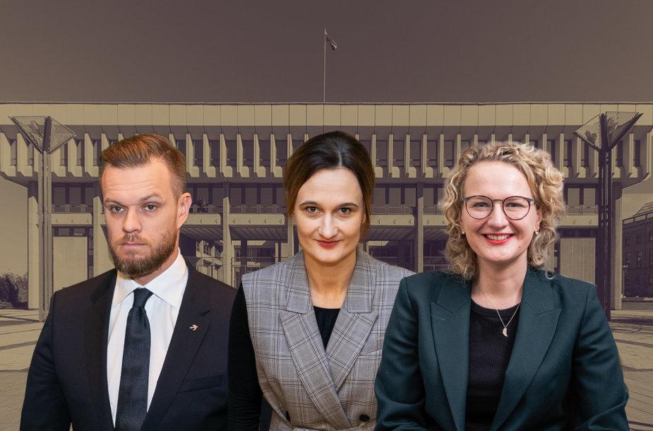 Gabrielius Landsbergis, Viktorija Čmilytė-Nielsen ir Aušrinė Armonaitė
