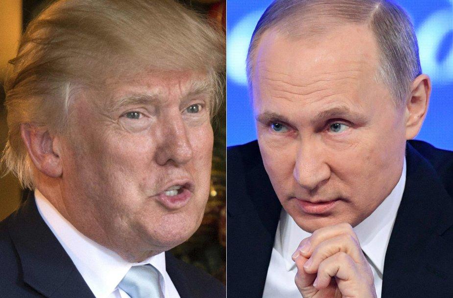 D.Trumpas ir V.Putinas.