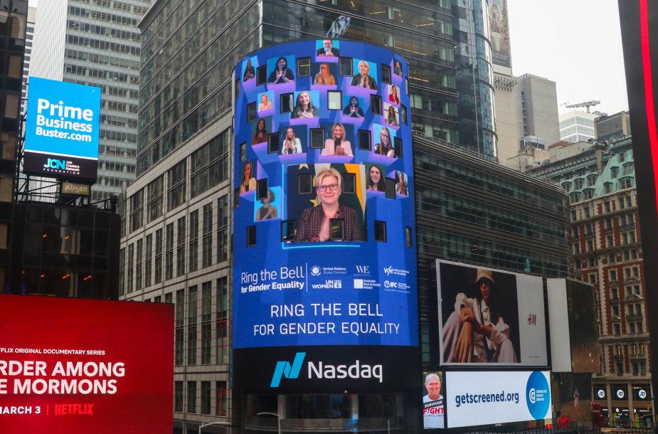 I.Šimonytė prisijungė prie NASDAQ iniciatyvos už lyčių lygybę