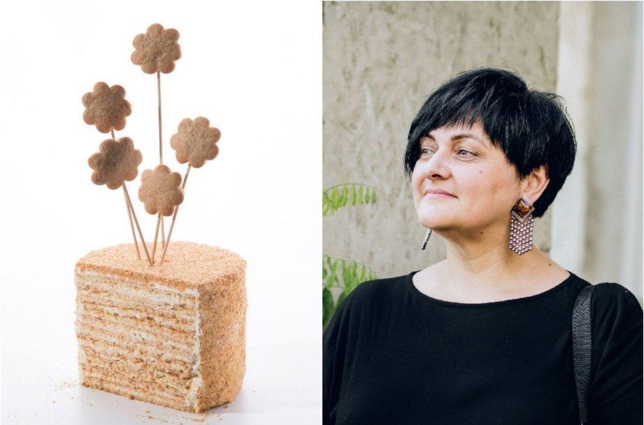"""Elžbieta Monkevič ir jos keptas """"Medaus tortas"""""""