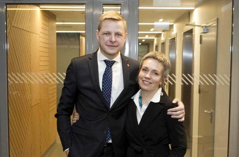 15min studijoje – kandidatas į Vilniaus merus Remigijus Šimašius su žmona