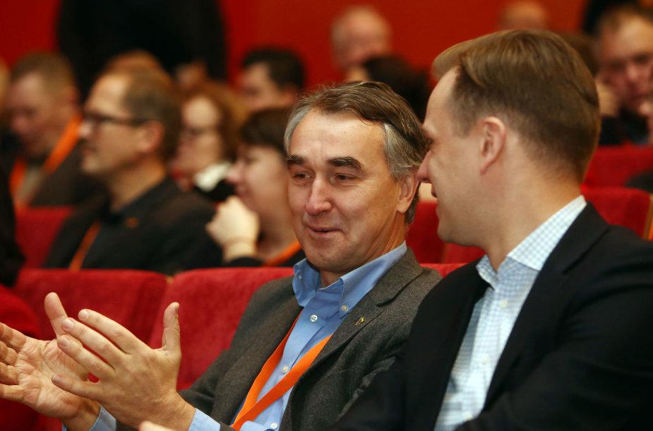 Petras Auštrevičius ir Gabrielius Landsbergis