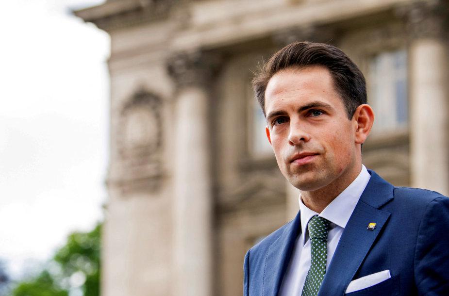 """""""Vlaams Belang"""" lyderis Tomas Van Griekenas"""