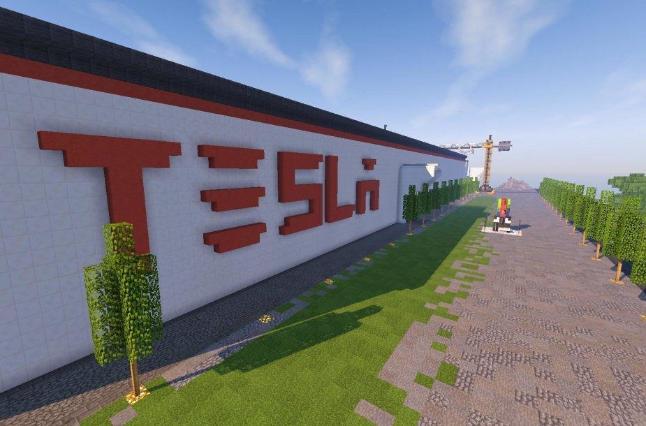 """Štai taip atrodo virtuali akumuliatorių gamykla """"Tesla Gigafactory"""""""