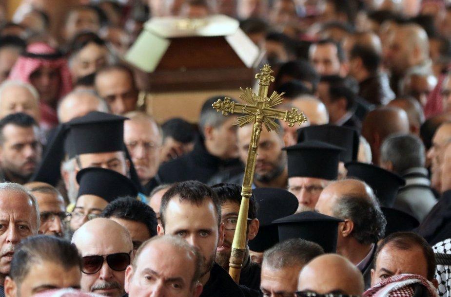 Vienos išpuolio Turkijoje aukų laidotuvės prie Jordanijos sostinės Amano