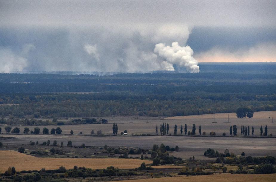 Gairas Ukrainos šaudmenų sandėlyje