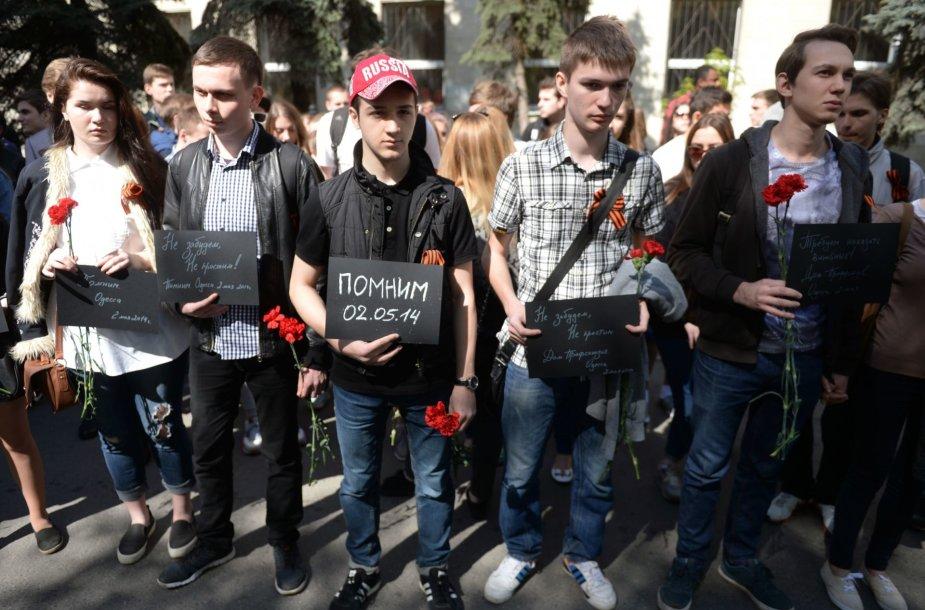 Odesos miestas mini antrąsias 48 gyvybių pareikalavusių susirėmimų metines