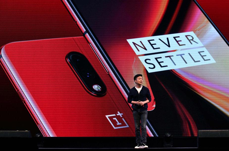 """""""OnePlus 7"""" serijos telefonų pristatymas"""