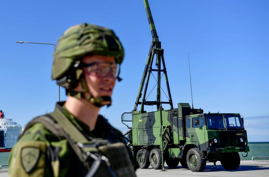 Švedija Gotlande dislokavo naują oro erdvės gynybos sistemą