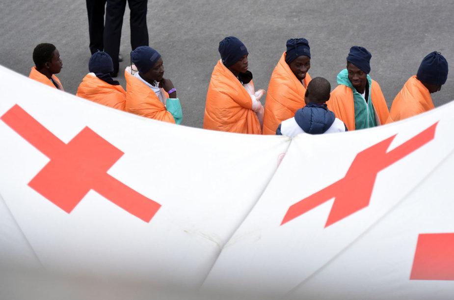 Išgelbėti migrantai
