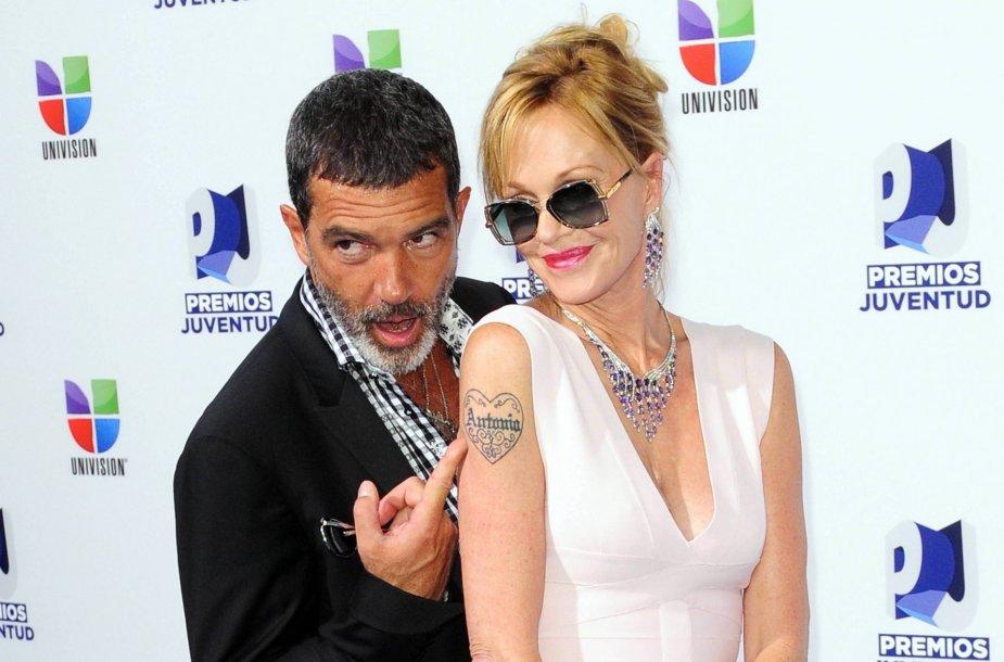 Antonio Banderasas ir Melanie Griffith
