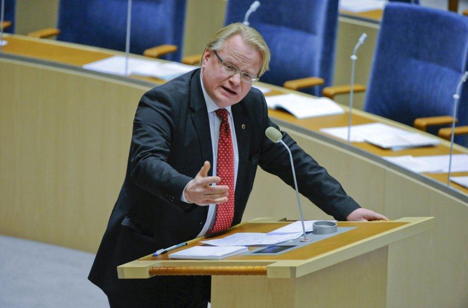 Švedijos gynybos ministras Peteris Hultqvistas.