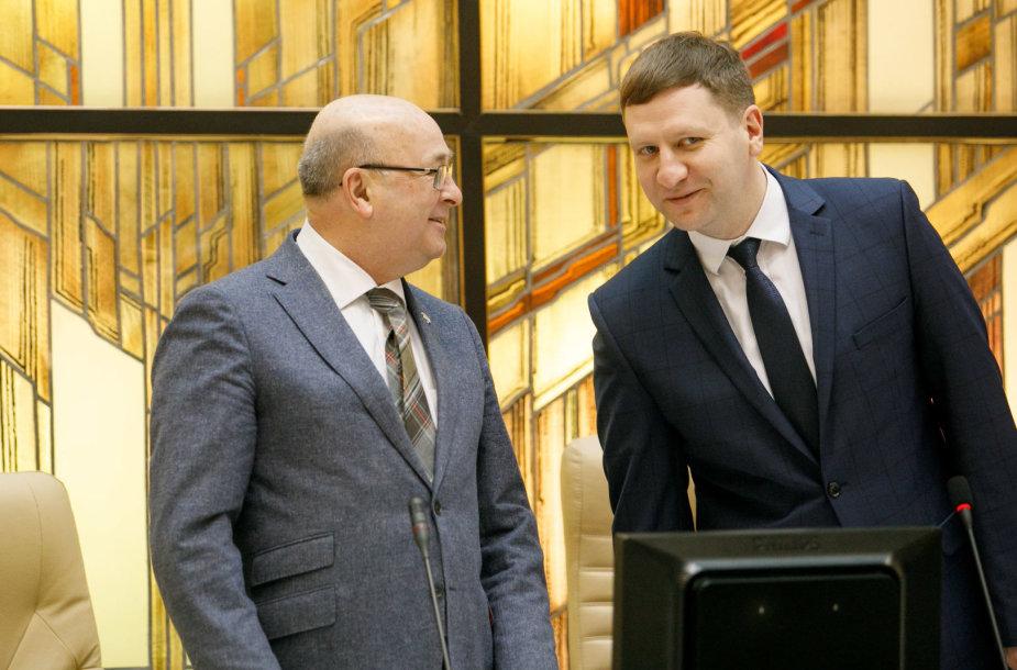 Visvaldas Matijošaitis ir Simonas Kairys
