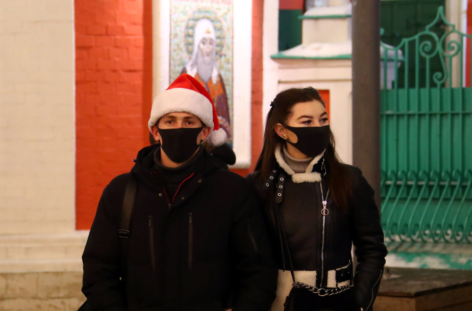 Maskvos gyventojai švenčia naujus metus