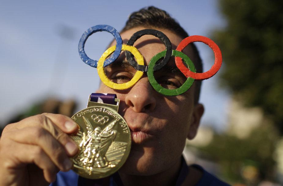 Rio de Žaneiro olimpinių žaidynių aistruolis