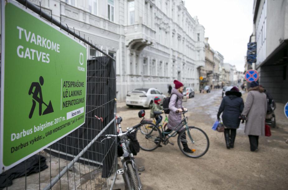 Besitęsiantis Vilniaus gatvės tvarkymas