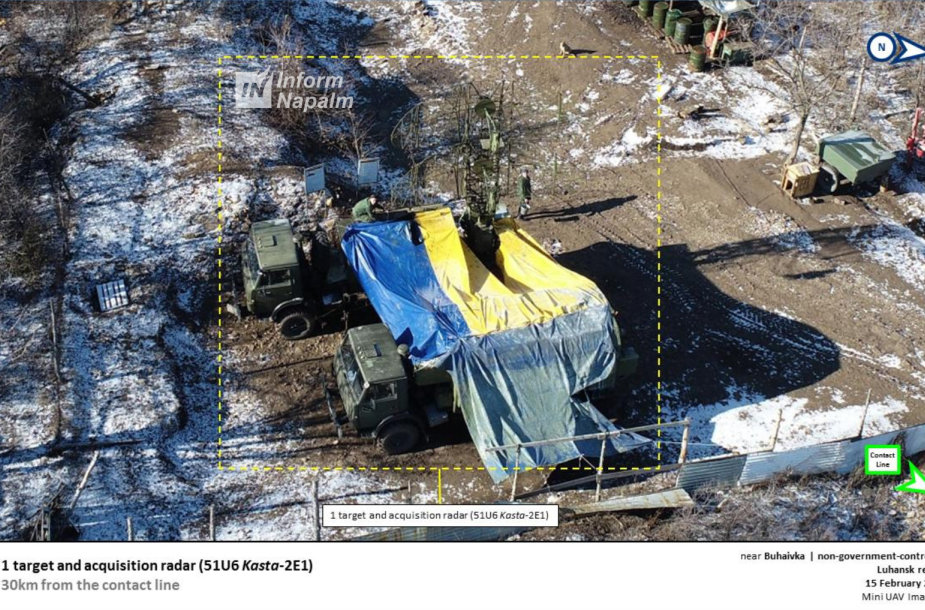Rusų kariškių bandymas užmaskuoti įrangą