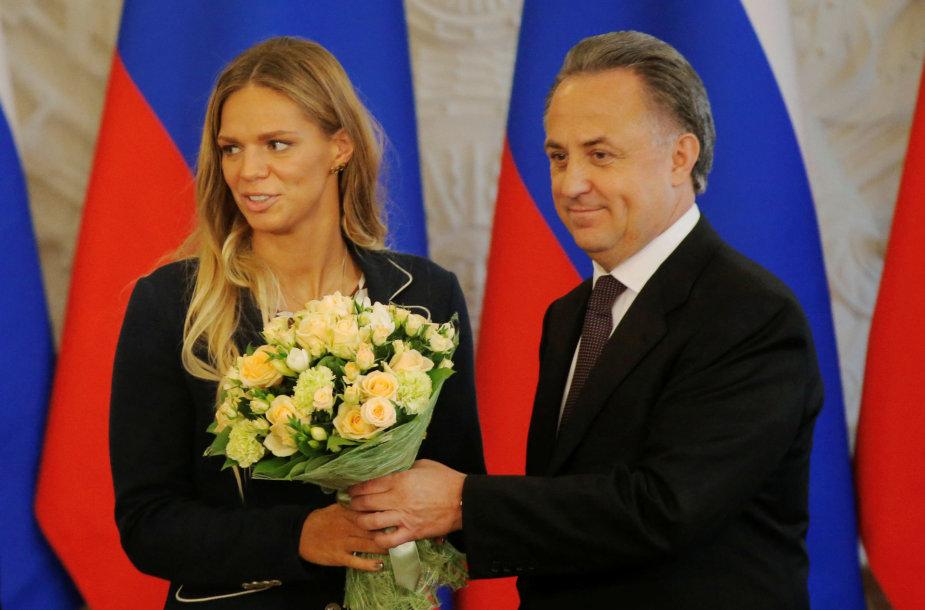 Julija Jefimova ir Vitalijus Mutko