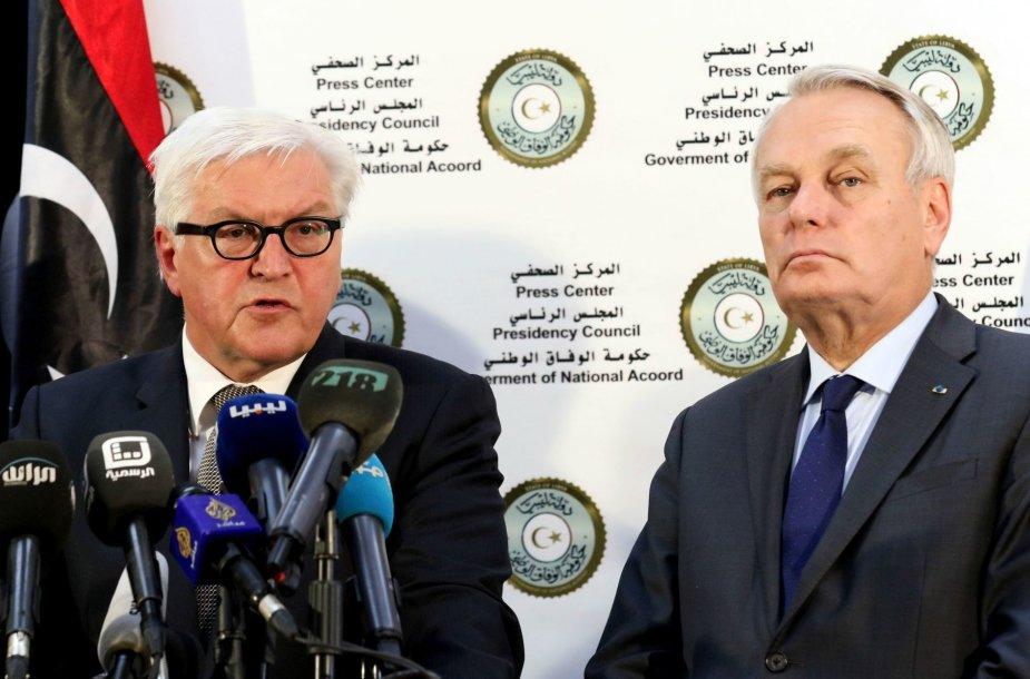 Frankas-Walteris Steinmeieris ir Jeanas-Marcas Ayrault Libijoje
