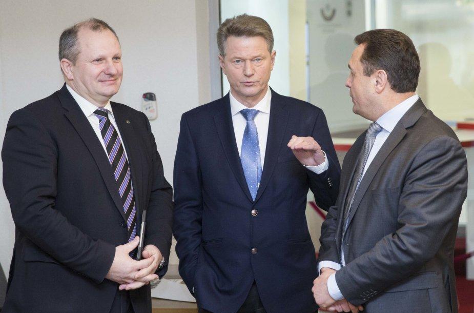 Kęstas Komskis, Rolandas Paksas ir Petras Gražulis