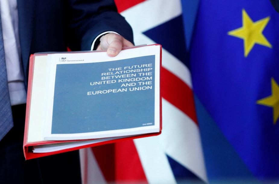 """585 puslapių """"Brexit"""" susitarimo projektas"""