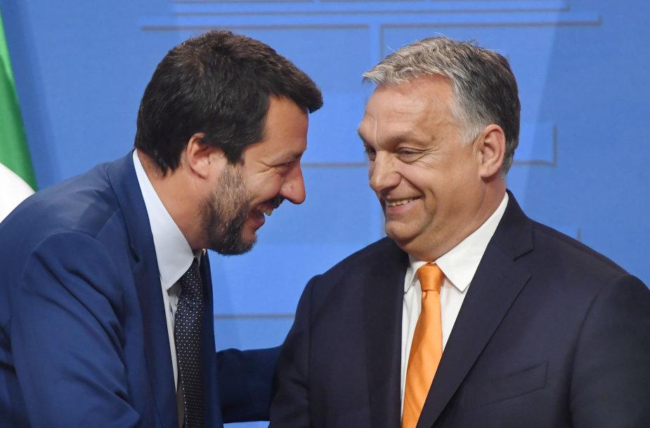 Matteo Salvini ir Viktoras Orbanas