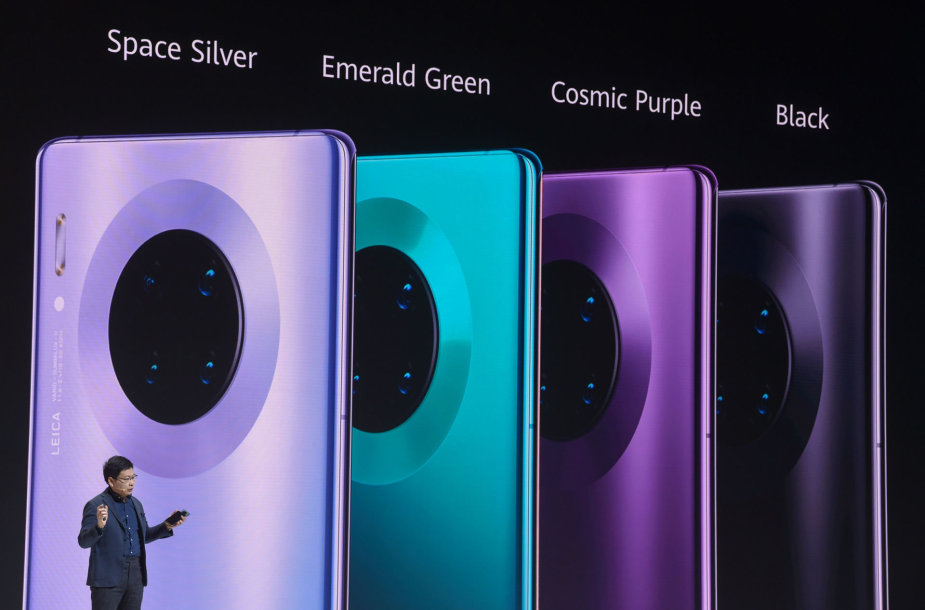 """""""Huawei Mate 30"""" serijos išmaniųjų telefonų pristatymas"""