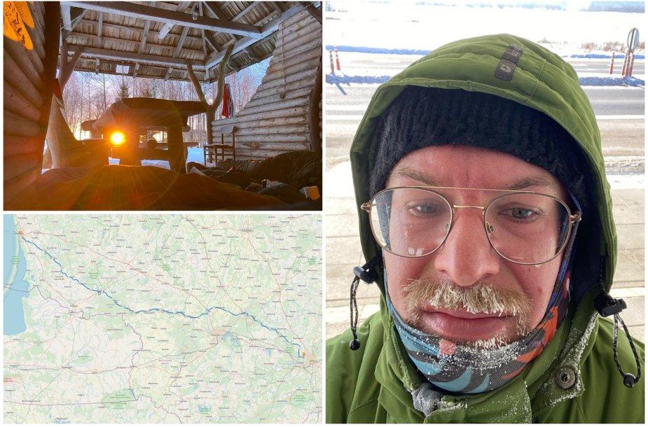 Gediminas Jasas ryžosi 360 kilometrų kelionei namo pėsčiomis