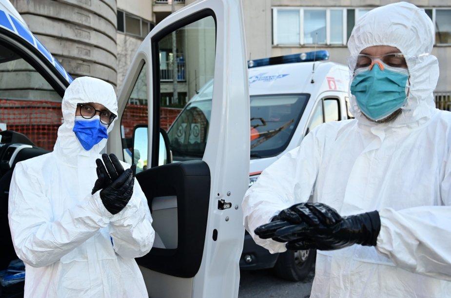 Lombardijoje vėl kemšasi ligoninės – koronavirusas sugrįžo
