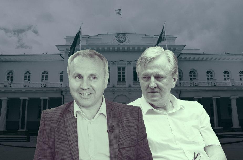 Kiek kartų Mindaugas Kubilius ir Rimantas Dagys lankėsi prezidentūroje? Versijos skiriasi