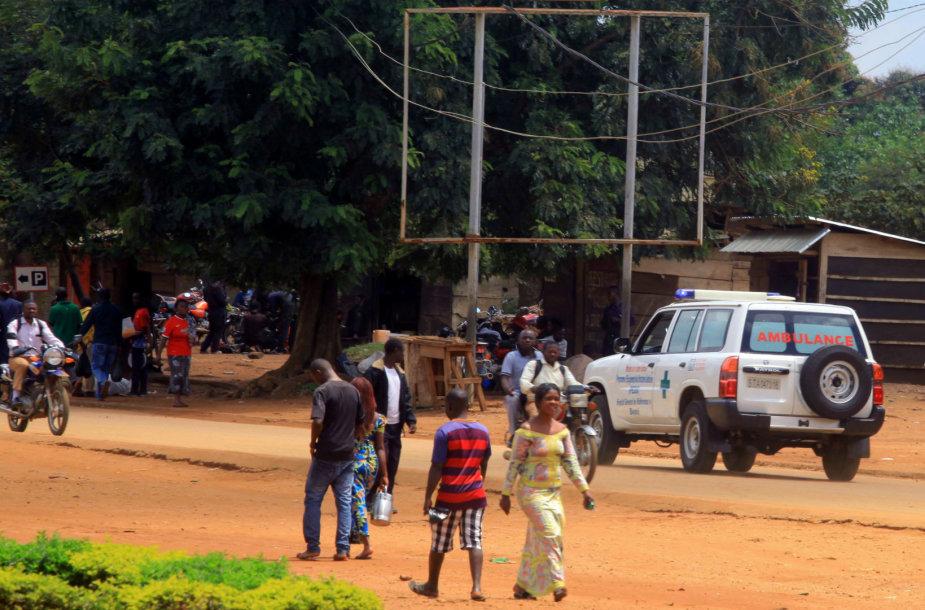 Greitosios pagalbos automobilis Šiaurės Kivu provinijoje