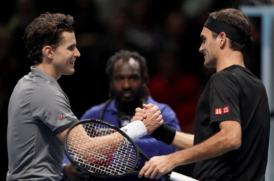 Dominicas Thiemas ir Rogeris Federeris