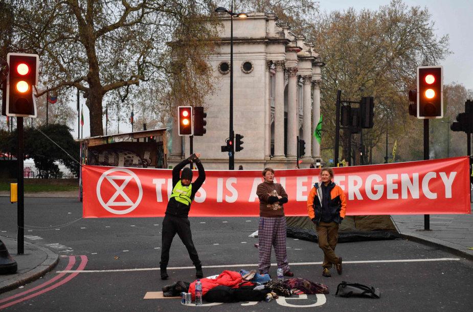 Protestas prieš klimato kaitą Londone