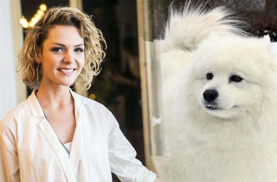 Liucina Rimgailė ir jos šuo Simba