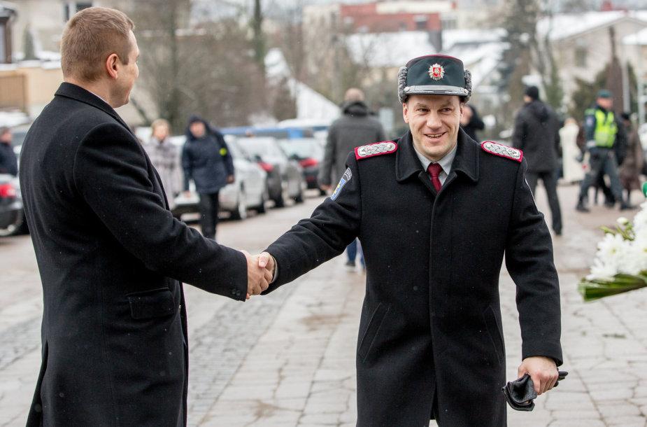 Policijos departamento vadovas Linas Pernavas
