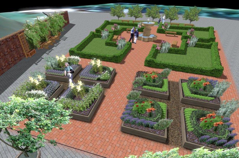 Tarp Valdovų rūmų ir Gedimino kalno – renesansinis sodas