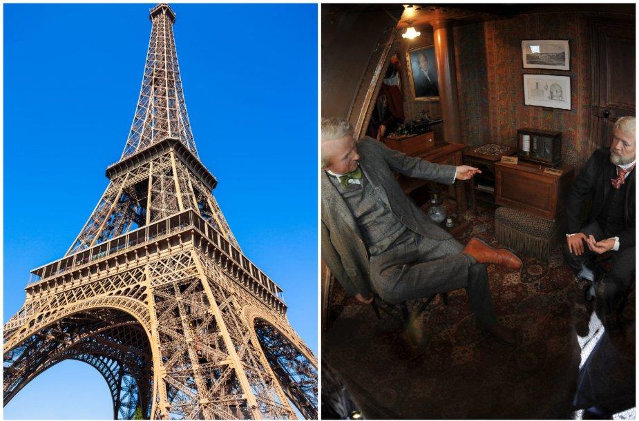 Ar žinojote? Eifelio bokšto viršūnėje yra slaptas mažytis butas