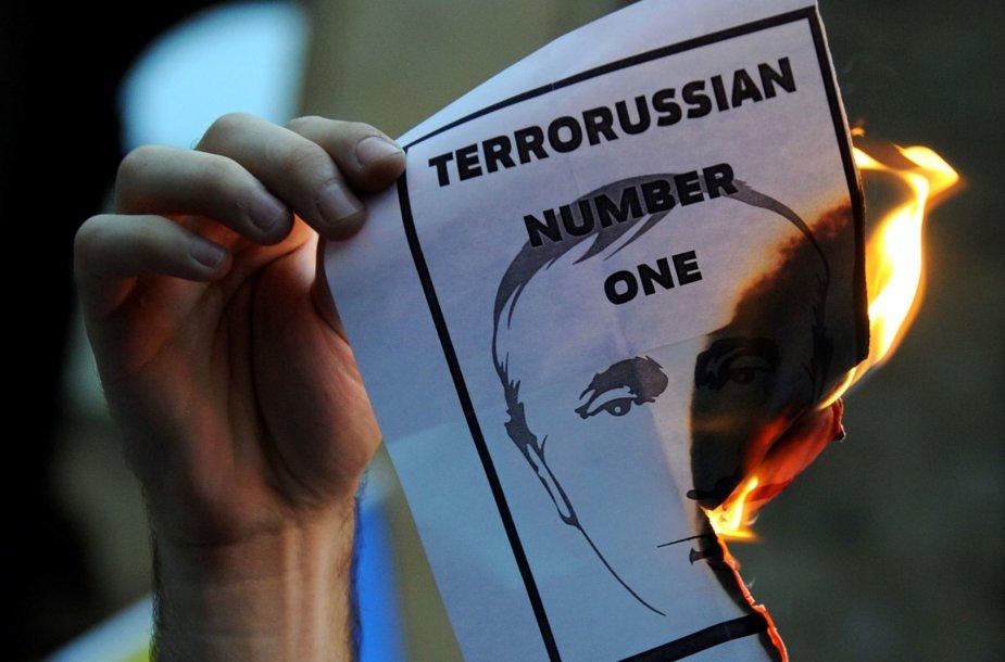 Protestas prieš Vladimiro Putino politiką