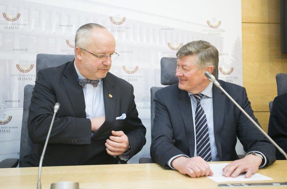 Juozas Olekas ir Artūras Paulauskas