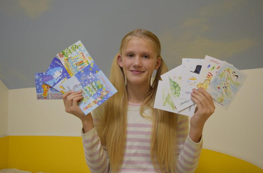 Salomėja Kaklauskaitė ir jos atvirukai.
