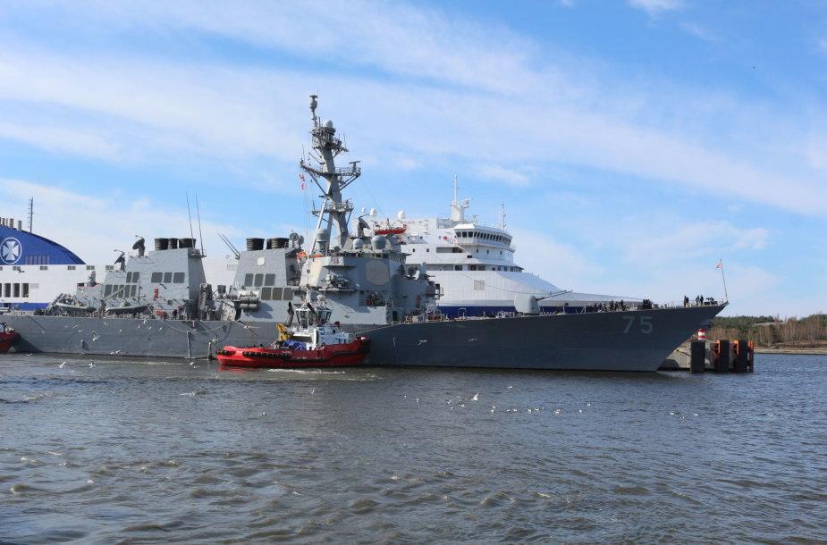 """Klaipėdoje vieši JAV karinis laivas """"USS Donald Cook"""""""