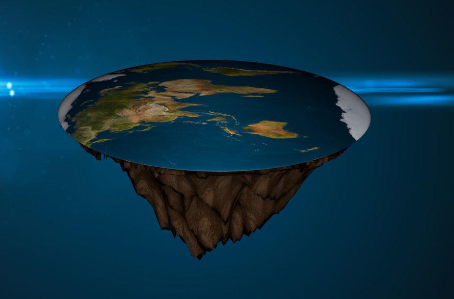 """Taip turėtų atrodyti """"plokščioji Žemė"""""""