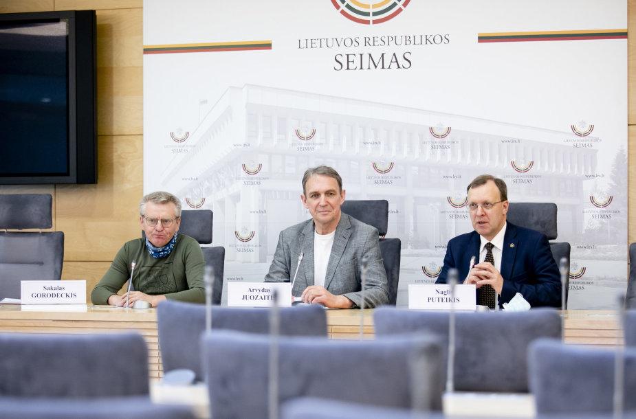 Sakalas Gorodeckis, Arvydas Juozaitis, Naglis Puteikis